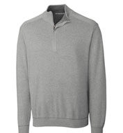 Custom Cutter and Buck Mens Big and Tall Half Zip Sweater