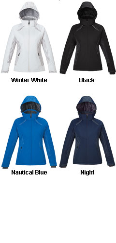 Womens Insulated Jacket with Print - All Colors