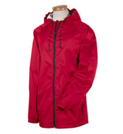 Mens Waterproof and Packable, Nylon Rip-Stop Rain Jacket