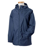 Ladies Waterproof and  Packable, Nylon Rip-Stop Rain Jacket