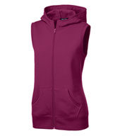 Ladies Hooded Fleece Vest
