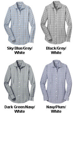 Red House� Ladies Non-Iron Tricolor Check Shirt - All Colors