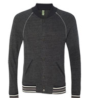 "Alternative Apparel Eco Cashmere Baseball ""Sweatshirt Jacket"""
