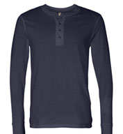 Custom Mens Long Sleeve Henley Jersey