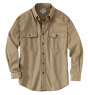 Custom Carhartt Mens Sandstone Twill Shirt
