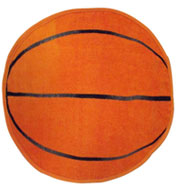 Basketball Shaped Sports Towel