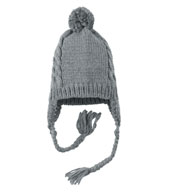 District ® Cabled Beanie with Pom