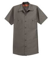Mens Tall  Half Sleeve Industrial Red Kap Work Shirt