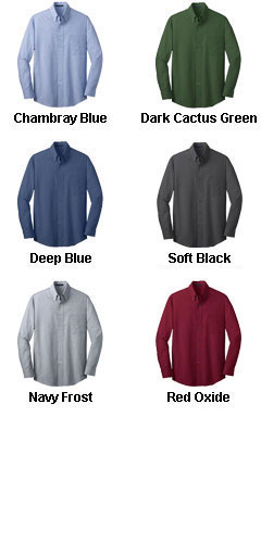 Mens Tall Crosshatch Easy Care Shirt - All Colors
