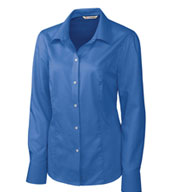Ladies Easy Care Nailhead Dress Shirt