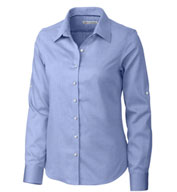 Custom Ladies Easy Care Mini Herringbone Dress Shirt