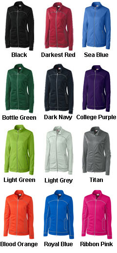 Ladies Helsa Full Zip Poly Fleece - All Colors