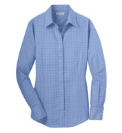 Ladies Windowpane Dress Shirt