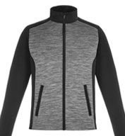Custom Shuffle Mens Performance Melange Interlock Jacket