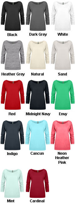 Next Level Ladies French Terry Raglan - All Colors