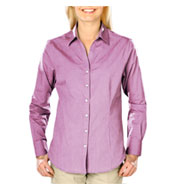 Custom Ladies Heathered Crossweave Dress Shirt