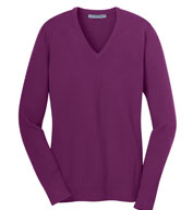 Ladies V-Neck Fine Gauge Sweater