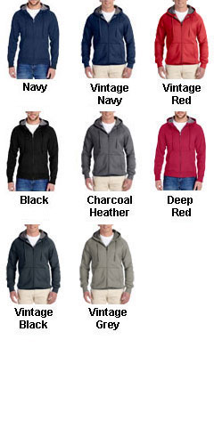 Hanes Nano Full-Zip Hooded Sweatshirt - All Colors