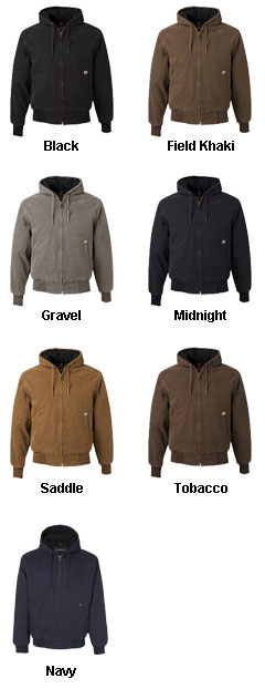 Mens Tall Dri Duck Canvas Hooded Jacket  - All Colors