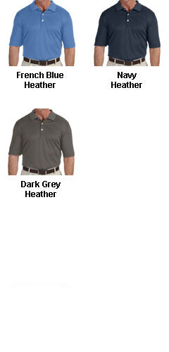 Mens Pima-Tech� Jet Pique Heathered Polo - All Colors