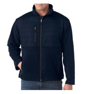 Mens Quilted Fleece Jacket
