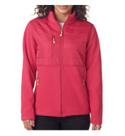 Ladies Quilted Fleece Jacket
