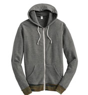 Alternative Patterned Full-Zip Hoodie