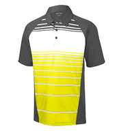 Custom Sublimated Stripe Polo Mens