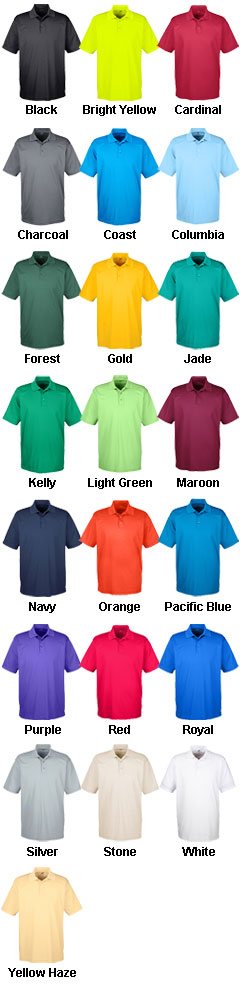 UltraClub Mens Cool and Dry Mesh Pique Polo - All Colors