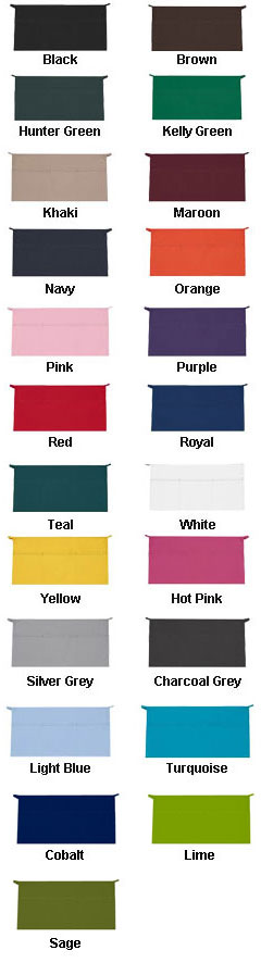 USA Made Three Pocket Waist Apron - All Colors