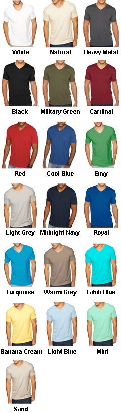 Next Level Premium Sueded V-neck T-Shirt - All Colors