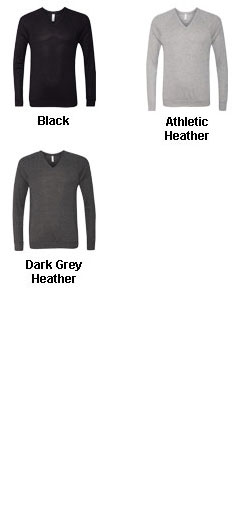 Unisex V-Neck Lightweight Sweater by Bella-Canvas - All Colors