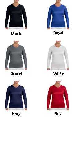 New Balance Ladies Ndurance® Athletic Long-Sleeve V-Neck T-shirt - All Colors