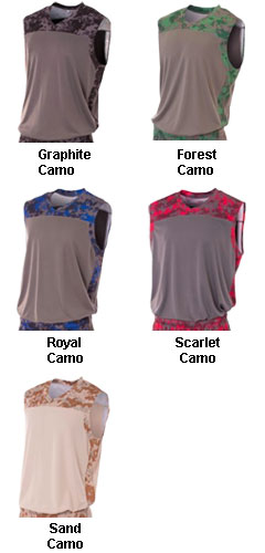 Adult Camo Performance Muscle Top - All Colors