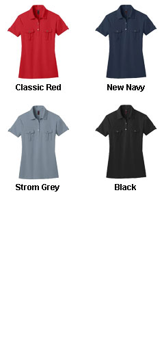 Ladies Jersey Double Pocket Polo - All Colors