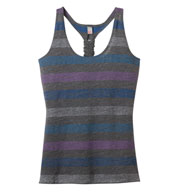 Custom Juniors Reverse Striped Tank