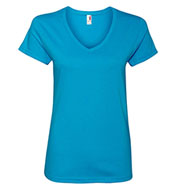 Ladies Anvil Ringspun V-Neck T-Shirt