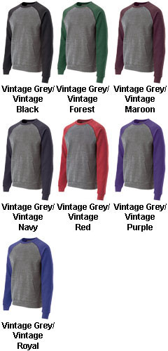Roster Pocketed Crew Neck Sweatshirt by Holloway USA - All Colors