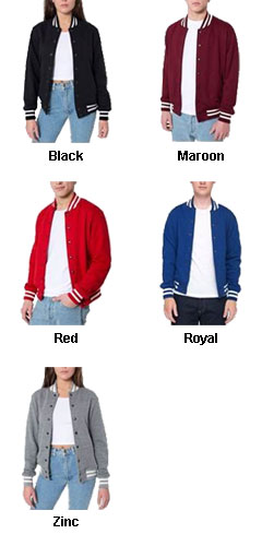American Apparel Unisex Heavy Terry Cloth Club Jacket  - All Colors