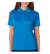 Ladies Cool and Dry Mini Check Jacquard Polo