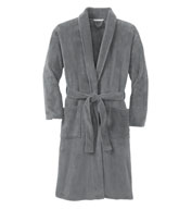 Plush Microfleece Shawl Collar Bathrobe