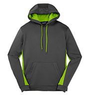 Mens Fleece Colorblock Hooded Pullover