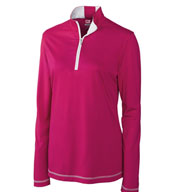 Ladies CB DryTec™ Choice Zip Mock in Plus sizes