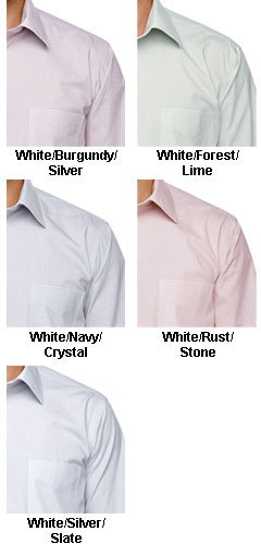 Mens Micro Tattersall Dress Shirt - All Colors