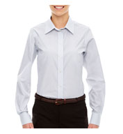 Ladies Micro Tattersall Dress Shirt