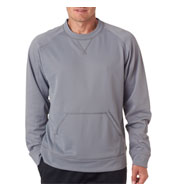 UltraClub Cool and Dry Sport Crew Neck Fleece