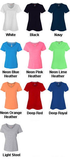 Hanes Womens X-Temp� V-Neck T-Shirt - All Colors