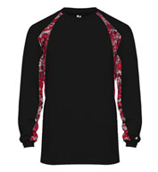 Custom Badger Mens Digital Hook Long Sleeve Tee