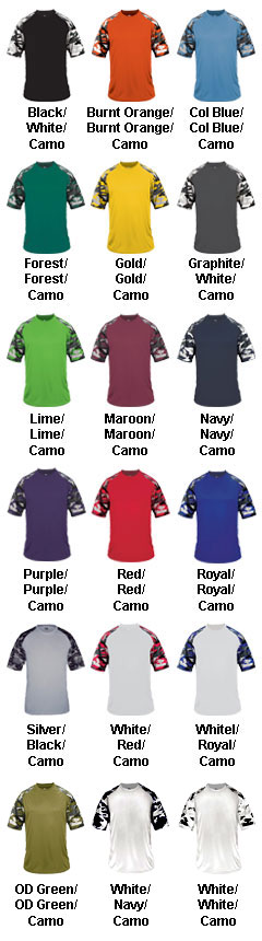 Adult Camo Sport Tee - All Colors