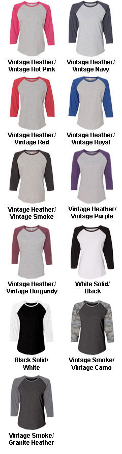 Custom Ladies Vintage Baseball T-Shirt - All Colors